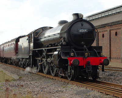 Thompson B1 steam Locomotive 61264 at Darlington